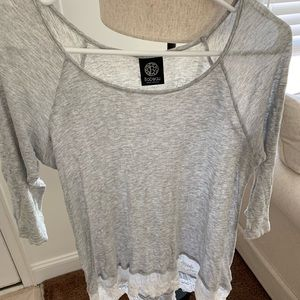 Grey and Lace Shirt